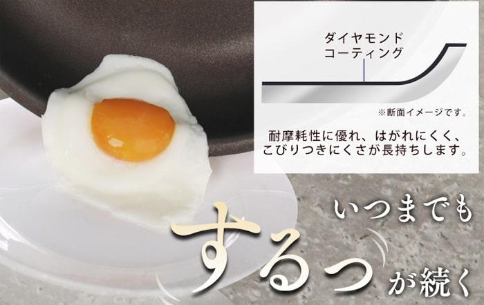 油が少なくても卵もくっつかずに焼ける