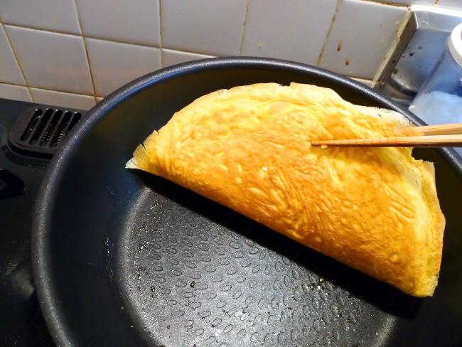 薄焼き卵の焼き色